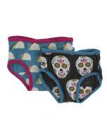 KicKeee Pants Girl Underwear (Set of 2), Seagrass Tacos & Dia de los Muertos
