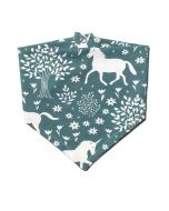 Kerchief Bib, Teal Magical Forest