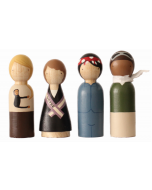 Hand Painted Wooden Peg Dolls, Trailblazers