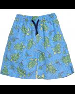 UPF 50+ Wesley  Swim Trunk w/ Mesh Liner, Turtles