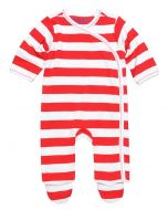Egyptian Cotton Red Rugby Stripes Footie