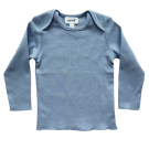 Organic Pima Cotton  Long Sleeve Tee, Citadel Blue