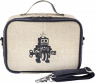 Gray Robot Lunch Box