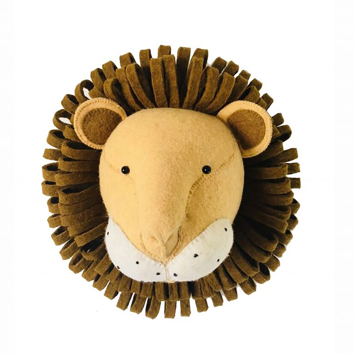 Lion Head wall decor made of felted wool