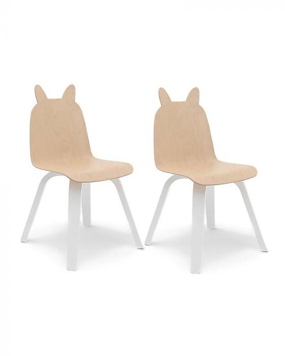 Birch rabbit ear chairs