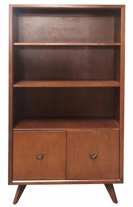 Skylar Bookcase in Cognac Stain