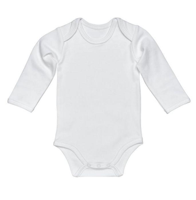 Organic Cotton Lap Shoulder Long Sleeve Bodysuit