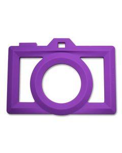 Silicone Camera Teether Purple