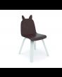 Walnut rabbit ear chair