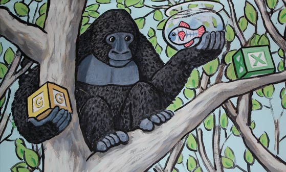 Sprout Mural Gorilla