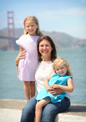Suzanne Price founder of Sprout with her daughters
