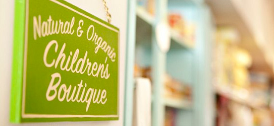 Natural and Organic Children's Boutique Store Sign